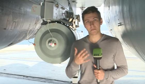 Die 500-Kilogramm-Bombe, bereit zum Einsatz?