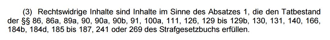 """NetzDG - """"Rechtswidrige Inhalte"""""""