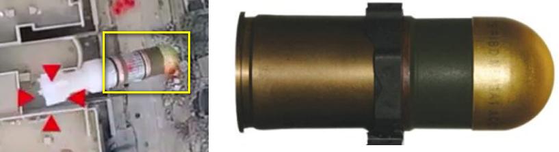 M430A1 - Vergleich mit Drohnenbombe des IS